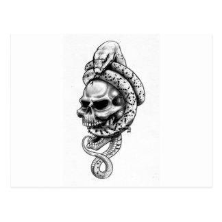 Cráneos originales del bosquejo del lápiz del tarjetas postales
