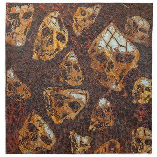 cráneos oxidados locos servilleta