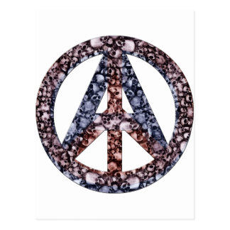 Cráneos, paz y anarquía tarjeta postal
