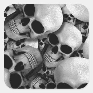 Cráneos Colcomanias Cuadradas