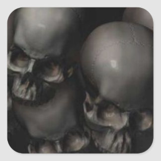 Cráneos Pegatinas Cuadradases