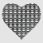 Cráneos Pegatina Corazon