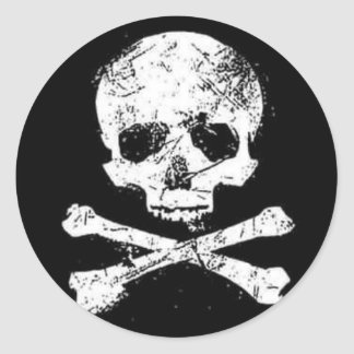 cráneos pegatina redonda