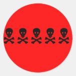cráneos pegatinas redondas
