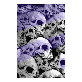 Cráneos (puntos culminantes del azul) papeleria