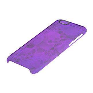 Cráneos púrpuras abstractos funda clearly™ deflector para iPhone 6 de uncommon