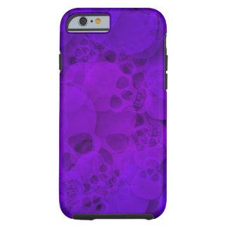 Cráneos púrpuras abstractos funda para iPhone 6 tough