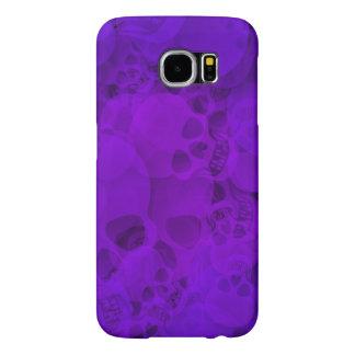 Cráneos púrpuras abstractos fundas samsung galaxy s6