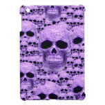 Cráneos púrpuras góticos iPad mini cárcasas