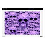 Cráneos púrpuras góticos portátil skins