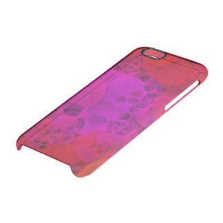 Cráneos púrpuras rojos abstractos funda clearly™ deflector para iPhone 6 de uncommon