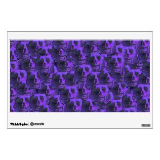 Cráneos púrpuras vinilo adhesivo