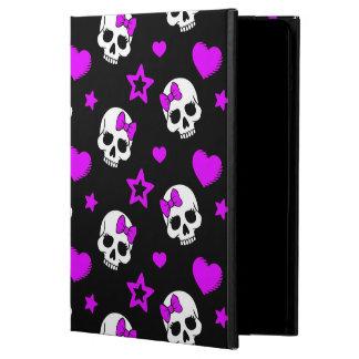 Cráneos púrpuras violetas del punk rock