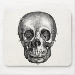 Cráneos retros del cráneo de los 1800s del vintage alfombrillas de ratones