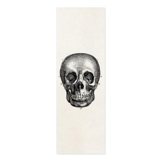 Cráneos retros del cráneo de los 1800s del vintage tarjeta de negocio
