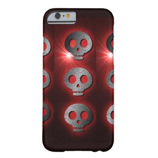 Cráneos rojos rocosos funda de iPhone 6 barely there