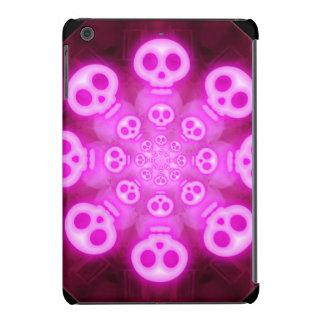 Cráneos rosados 3 del caramelo de algodón carcasa para iPad mini retina