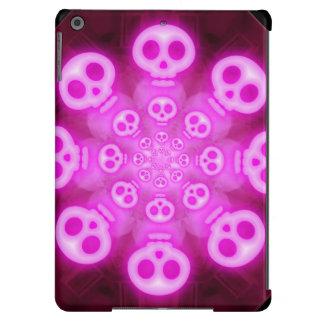 Cráneos rosados 3 del caramelo de algodón funda iPad air