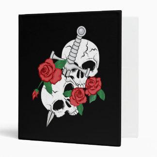 Cráneos, rosas y daga