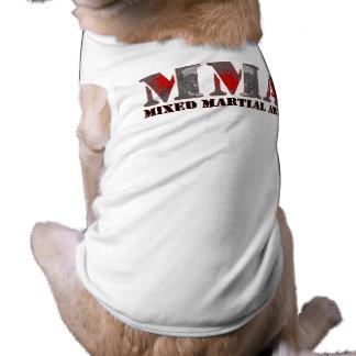 Cráneos sangrientos mezclados de los artes marcial camisa de perro