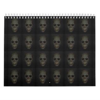 Cráneos sonrientes con el modelo de ojos calendario