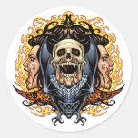 Cráneos, vampiros y palos adaptables por el Al Río Etiqueta Redonda
