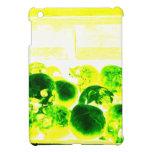 Cráneos verde y amarillo iPad mini protectores