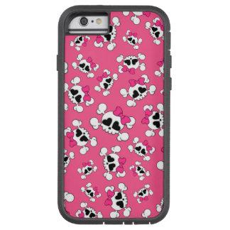 Cráneos y arcos rosados de la diversión funda de iPhone 6 tough xtreme