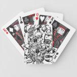 Cráneos y cabezas de la carne baraja cartas de poker