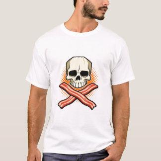 Cráneos y camiseta del niño del logotipo del