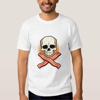 Cráneos y camiseta del niño del logotipo del playeras
