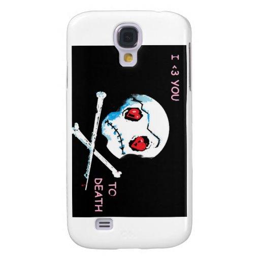 """Cráneos y corazones de Emo: """"Te amo accesorio de Funda Para Samsung Galaxy S4"""