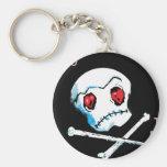 """Cráneos y corazones de Emo: """"Te amo accesorio de l Llaveros Personalizados"""