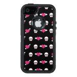 Cráneos y corazones funda otterbox para iPhone 5/5s/SE