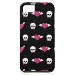 Cráneos y corazones iPhone 5 carcasa