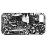 Cráneos y esqueletos de risa iPhone 5 Case-Mate protector