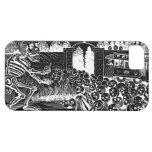 Cráneos y esqueletos de risa iPhone 5 fundas