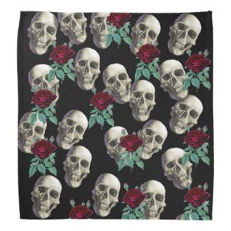 Cráneos y flores bandana
