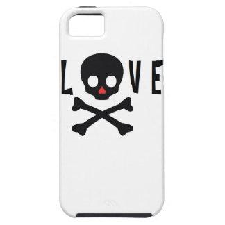 Cráneos y huesos del amor iPhone 5 Case-Mate coberturas