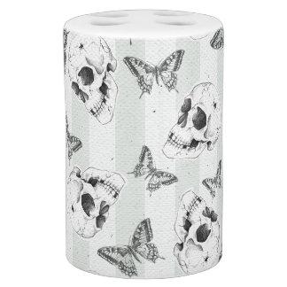 Cráneos y mariposas conjunto de baño
