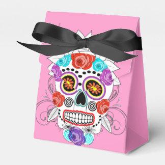 Cráneos y rosas del azúcar del gótico de la cajas para regalos de boda