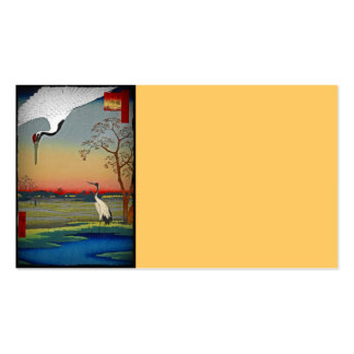 Cranes and Blue Water Double-Sided Standard Business Cards (Pack Of 100)
