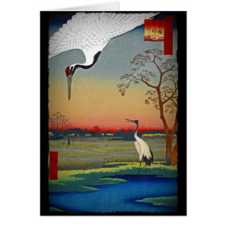 Cranes and Blue Water Greeting Card