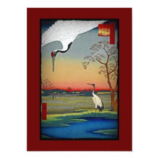 Cranes and Blue Water Custom Invite