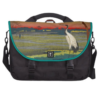 Cranes and Blue Water Bag For Laptop