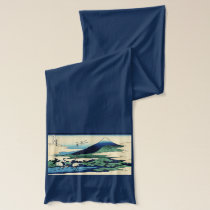 Cranes and Mountain in Clouds Scarf