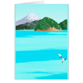 Cranes and the Sea 4 - Card