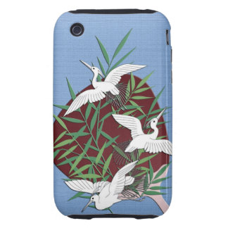 Cranes, bamboo and fan iPhone 3 tough cases