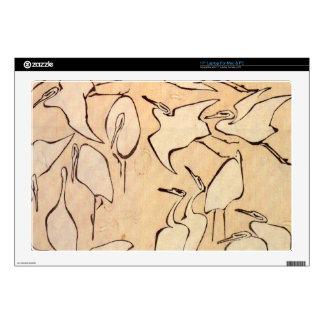 """Cranes by Hokusai 17"""" Laptop Skin"""
