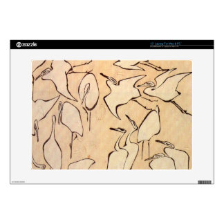 Cranes by Hokusai Skins For Laptops